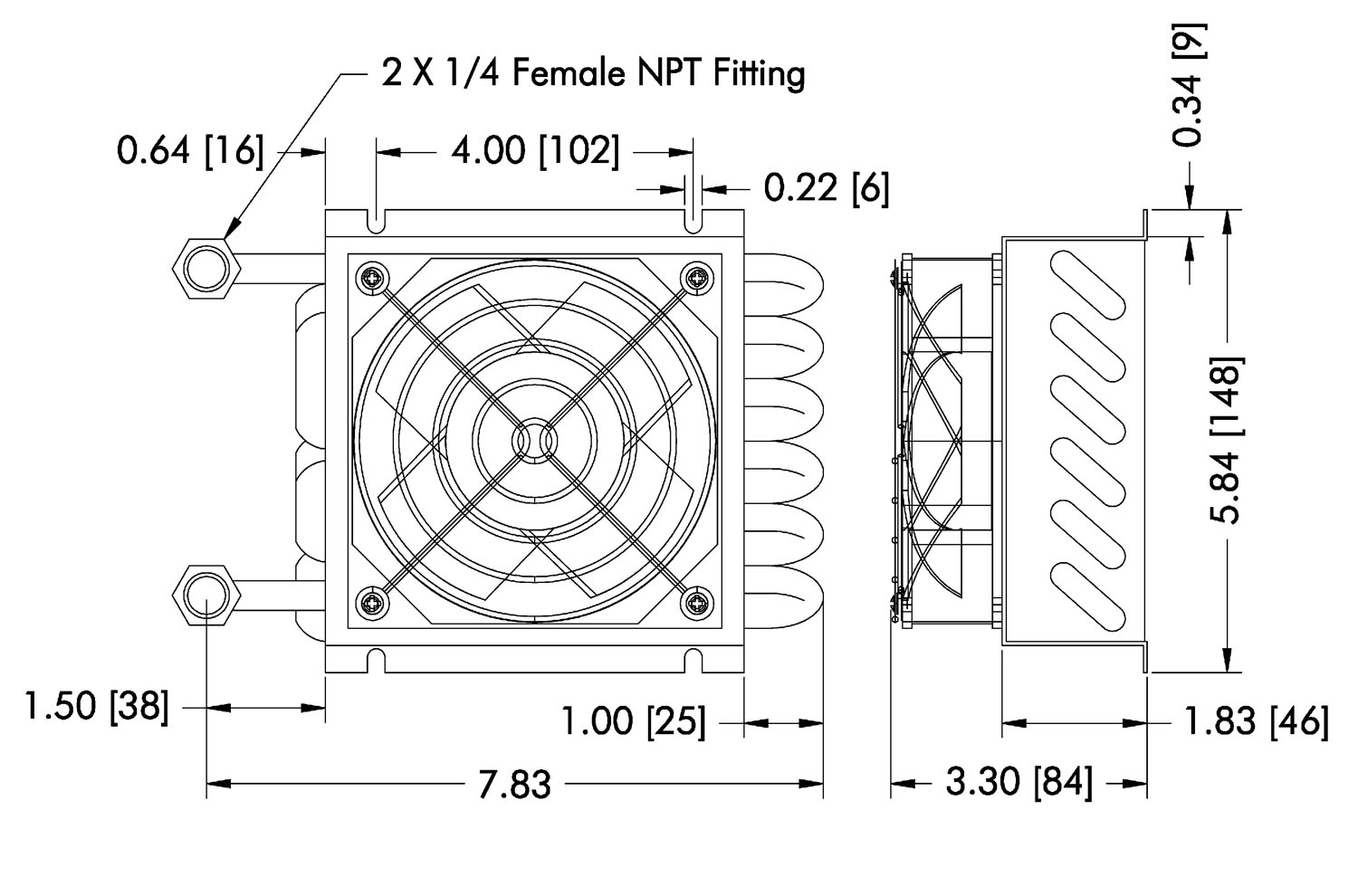 thermoelectric heater fan