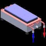 LHP-1200CP cold palte coolant flow