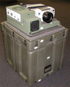 military projector