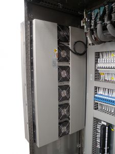 Cooling control panels outdoors